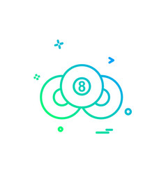 pool icon design vector image