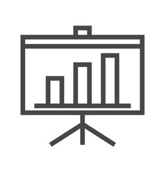Presentation bilboard thin line icon vector