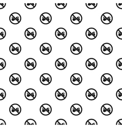 Prohibition sign butterfly pattern simple style vector