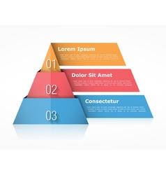 Pyramid Chart Three Elements vector image