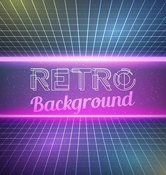 retro vintage 1980 bright neon color background vector image