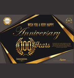 retro vintage anniversary background 100 years vector image