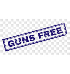 Scratched guns free rectangle stamp vector