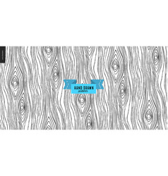 Seamless black and white hand drawn wood pattern vector