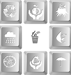 set computer keys vector image
