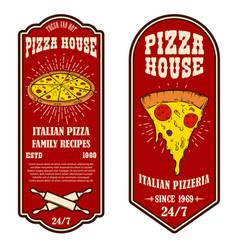 set flyers pizzeria design elements for vector image