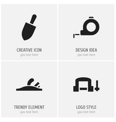set of 4 editable instrument icons includes vector image