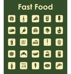 Set of fast food simple icons vector image