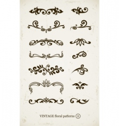 set of vintage decorative vector image