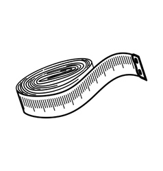 Sewing tape measure vector