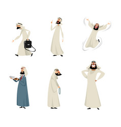 Six arab men vector