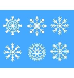 Snowflakes white icon set vector image