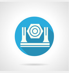 Stage light equipment blue round icon vector