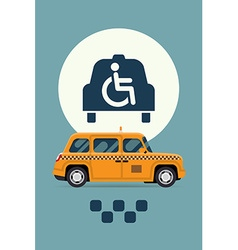 Taxi with Wheelchair Access vector image