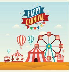 The carnival funfair design vector