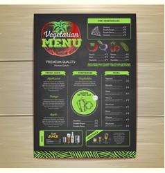 Vintage vegetarian food menu design vector