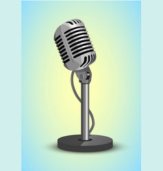 Vocal microphone vector
