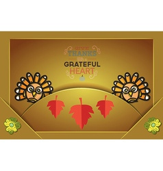 With thanksgiving and autumn colors vector