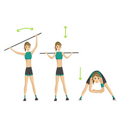 woman fitness slim woman doing fitness vector image