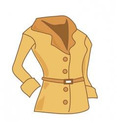 Woman's coat vector