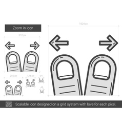Zoom in line icon vector