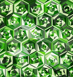 emeralds seamless pattern vector image vector image
