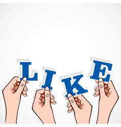 like word in hand vector image