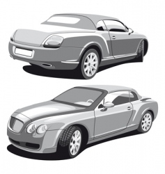 Luxury car gray vector