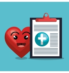 report medical cardiology heart isolated design vector image
