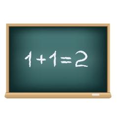 board mathematics vector image vector image