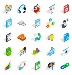 right icons set isometric style vector image
