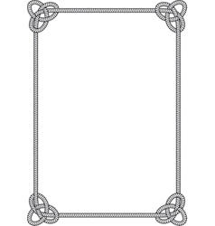 sea knot frame vector image vector image