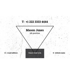Modern business card template with a triangle vector
