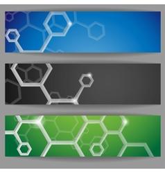 Molecule abstract banner vector