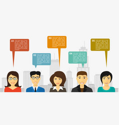 people talk infographic vector image