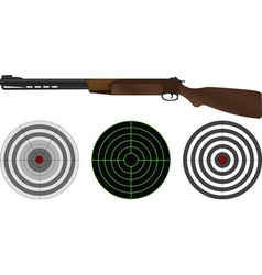 sporting gun and targets vector image vector image