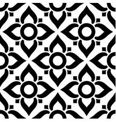 thai seamless pattern with flowers - black vector image vector image
