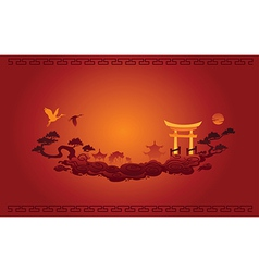 Abstract of Chinese Background vector image vector image