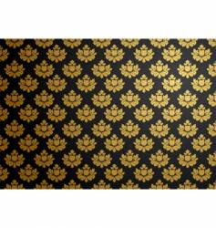 black and gold glamour pattern vector image