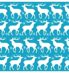 Christmas seamless pattern with white deers vector image