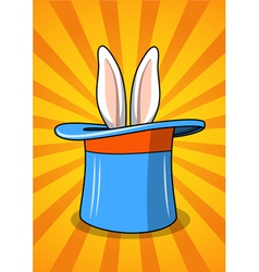 Hat with a rabbit vector image vector image