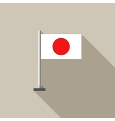 Japanese Country flag flat vector image