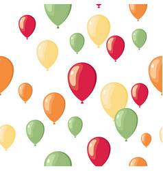 Party flat balloons pattern vector