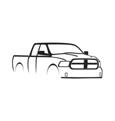 4th gen ram quad cab silhouette vector