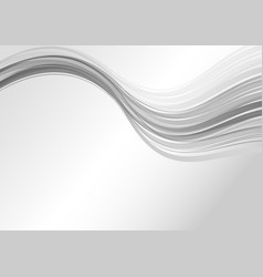 Abstract grey modern wave background vector
