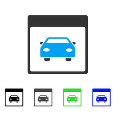 Automobile car calendar page flat icon vector