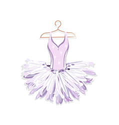ballet tutu on a hanger vector image