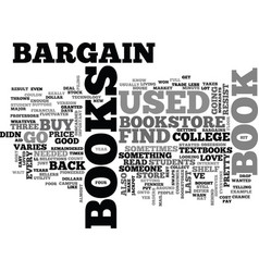 Bargain books text word cloud concept vector