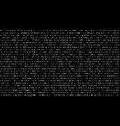 binary code black and white background with vector image