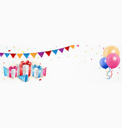 Birthday celebration banner vector
